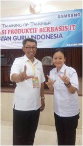 Bersama master menulis buku Bapak Slamet Riyanto dari Kab Gunung Kidul DIY