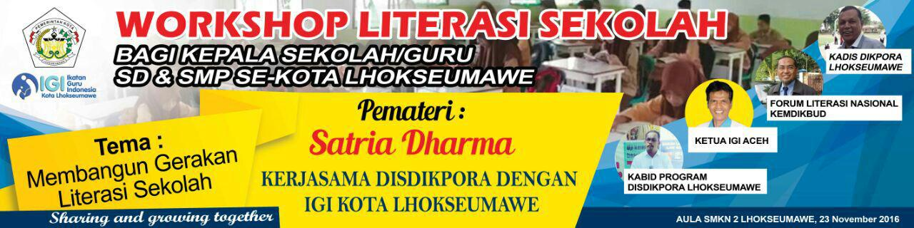 "IGI Lhokseumawe buat ""Workshop Literasi Sekolah""   Ikatan ..."